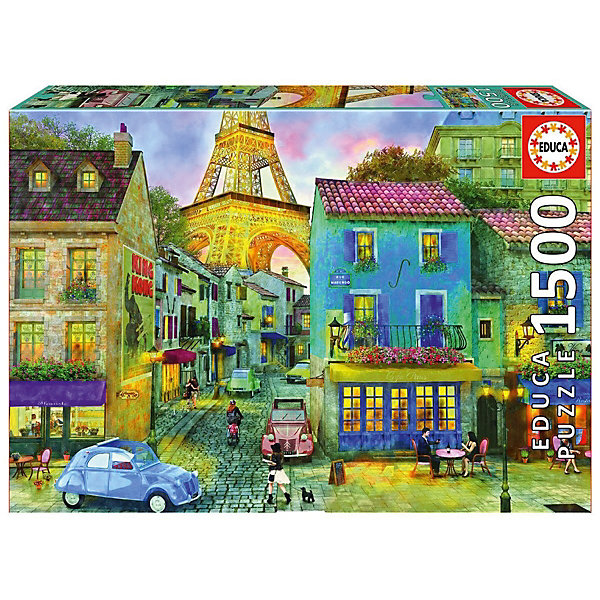 Купить Пазл Educa Парижские улицы 1500 элементов, Испания, Унисекс