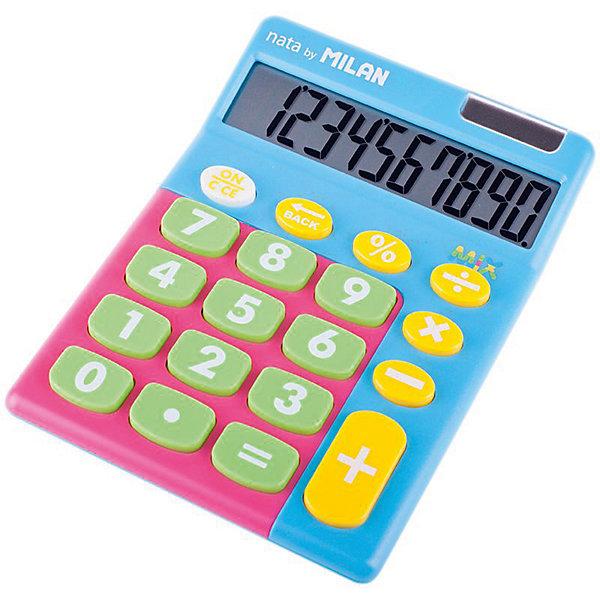 Milan Настольный калькулятор Milan, голубой микс