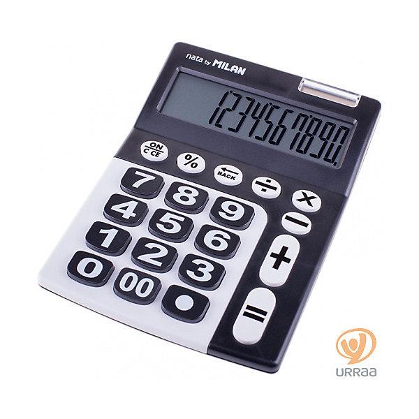 Milan Настольный калькулятор Milan, черно-белый канцелярия milan калькулятор настольный 10 разрядов двойное питание 145x106x21 мм mix