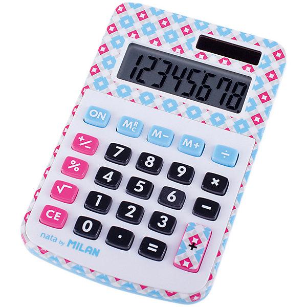 Milan Настольный калькулятор Milan, в клеточку канцелярия milan калькулятор настольный 10 разрядов двойное питание 145x106x21 мм mix