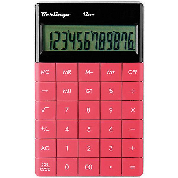 Berlingo Настольный калькулятор Berlingo, тёмно-розовый канцелярия milan калькулятор настольный 10 разрядов двойное питание 145x106x21 мм mix
