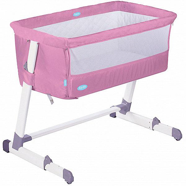 Nuovita Детская приставная кроватка Accanto, rosa
