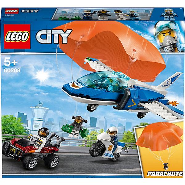 LEGO City Police Воздушная полиция: арест парашютиста 60208 lego lego city 60156 багги для поездок по джунглям