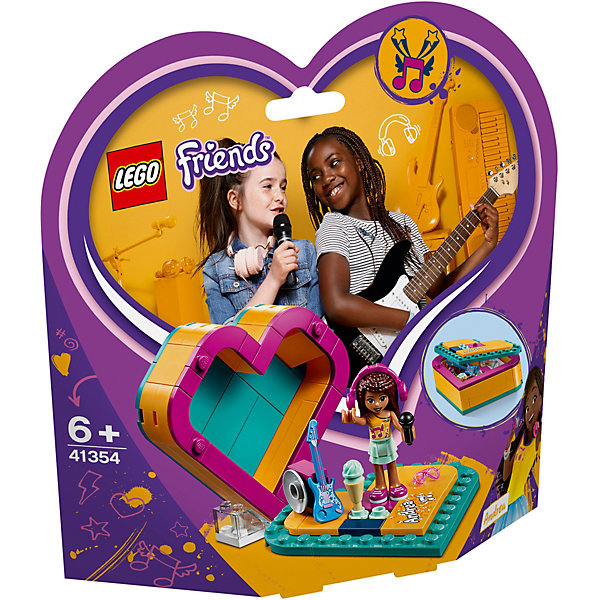 LEGO Friends Шкатулка-сердечко Андреа 41354