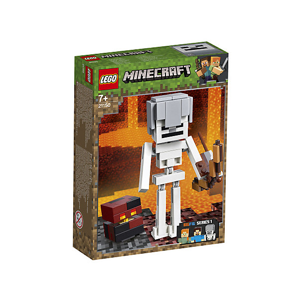LEGO Конструктор Minecraft 21150: Большие фигурки, Скелет с кубом магмы