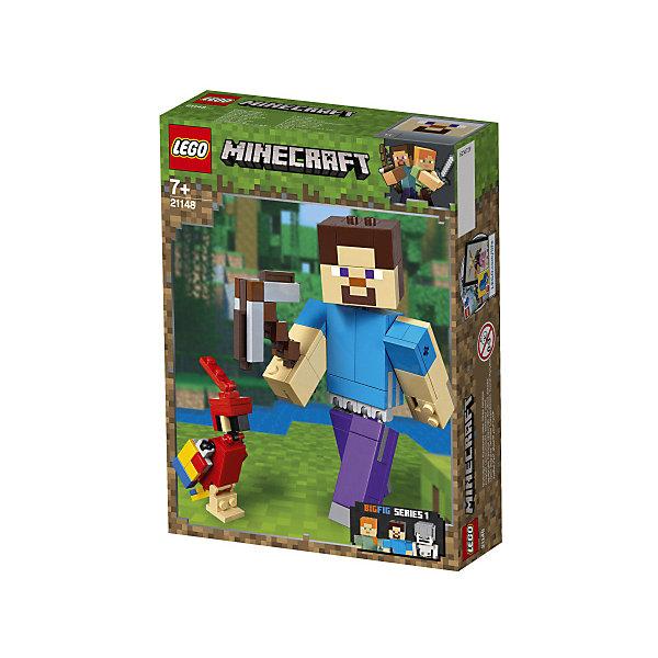 LEGO Конструктор Minecraft 21148: Большие фигурки, Стив с попугаем