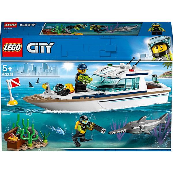 LEGO City Great Vehicles Яхта для дайвинга 60221 аксессуары для дайвинга apd шланг lp к 2 й ступени регулятора