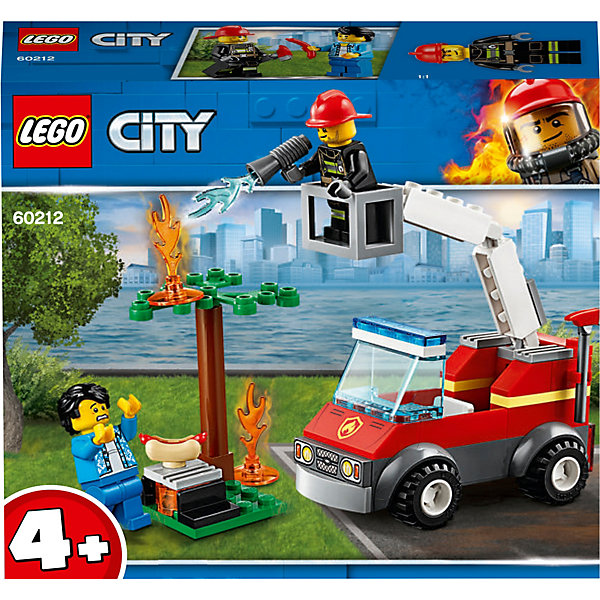 LEGO City Fire Пожар на пикнике 60212 model building kits compatible with lego city fire car 586 3d blocks educational model