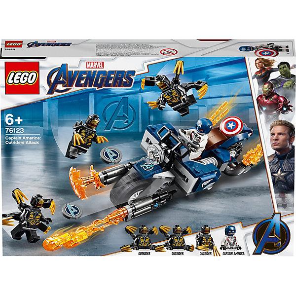 LEGO Конструктор Super Heroes 76123: Капитан Америка: Атака Аутрайдеров