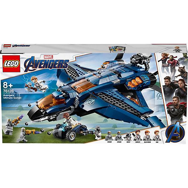 LEGO Конструктор LEGO Super Heroes 76126: Модернизированный квинджет Мстителей