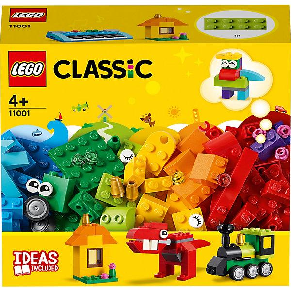 Конструктор LEGO Classic 11001: Модели из кубиковКонструкторы Лего<br>Характеристики товара:<br><br>• материал: пластик<br>• количество деталей: 123<br>• серия: Classic<br>• инструкция в комплекте<br>• упаковка: картонная коробка<br>• страна бренда: Дания<br><br>Из деталей можно собрать разнообразные конструкции. Домик, паровозик, динозавра, синтезатор и многие другие. Разные формы деталей позволяют фантазировать и придумывать новые модели. Конструктор развивает мелкую моторику, воображение и навыки конструирования.