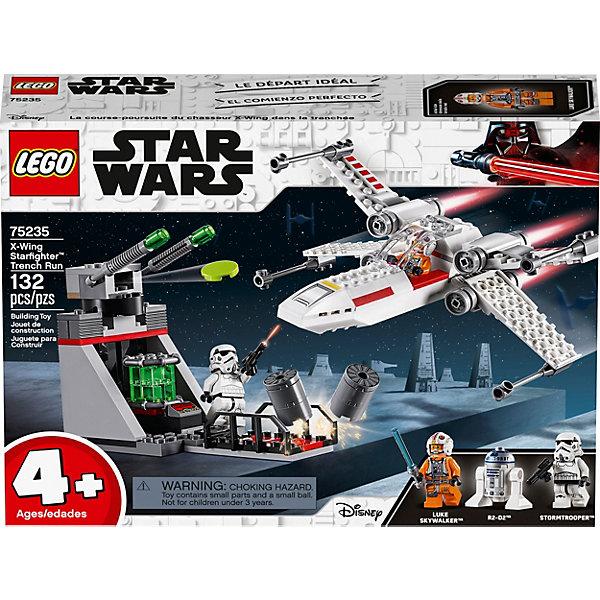 Конструктор LEGO Star Wars 75235: Звёздный истребитель типа ХКонструкторы Лего<br>Характеристики товара:<br><br>• материал: пластик<br>• количество деталей: 132<br>• количество мини фигурок: 3<br>• серия: Star Wars<br>• инструкция в комплекте<br>• упаковка: картонная коробка<br>• страна бренда: Дания<br><br>Собери звёздный истребитель и отправляйся вместе с Люком Скайукером атаковать штурмовика. Он уже прицелился и собирается стрелять. Сделай обманные манёвры и вылети из зоны поражения. Произведи выстрелы по цели и победи врага.