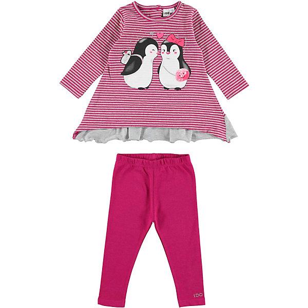 iDO Комплект:футболка с длинным рукавом,брюки iDO для девочки ido комплект футболка с длинным рукавом леггинсы ido для девочки
