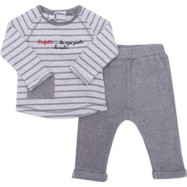 iDO Комплект: футболка с длинным рукавом, брюки iDO для мальчика одежда для детей
