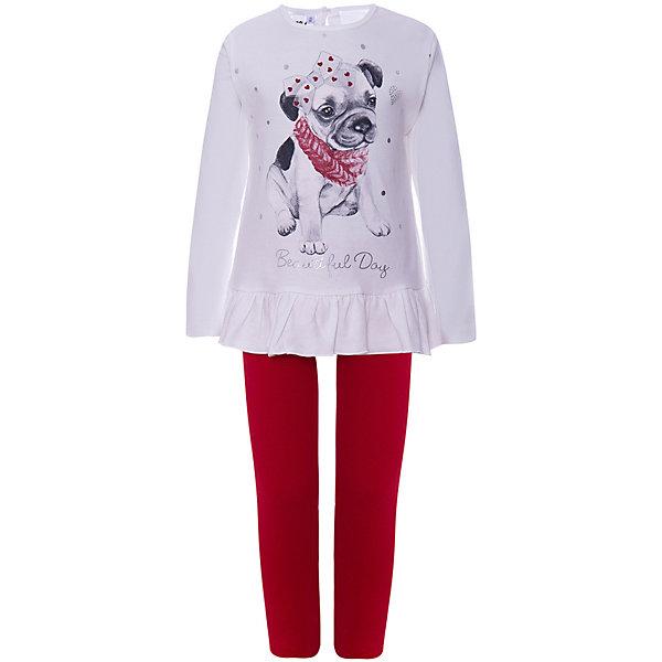Комплект:футболка с длинным рукавом,брюки iDO для девочкиКомплекты<br>Характеристики товара:<br><br>• цвет: кремовый;<br>• комплектация: леггинсы, лонгслив;<br>• состав ткани: 93% хлопок, 7% эластан;<br>• сезон: демисезон;<br>• длинные рукава;<br>• застежка: пуговицы;<br>• талия: резинка;<br>• страна бренда: Италия.<br><br>Такой комплект для детей - это удобный лонгслив и обтягивающие леггинсы. Лонгслив для ребенка, как и детские леггинсы от iDO, сделан из мягкого хлопкового трикотажа, дышащего и гипоаллергенного. Футболка с длинным рукавом для детей украшена принтом, который оценят юные модницы. Стильная детская одежда от известного бренда iDO разрабатывается с учетом особенностей детей, огромное внимание уделяется её удобству и безопасности для детей.