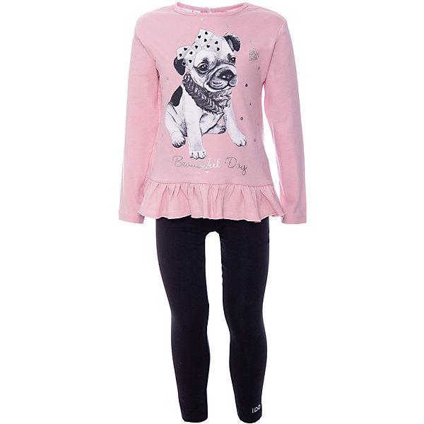 iDO Комплект:футболка с длинным рукавом,брюки iDO для девочки одежда для детей