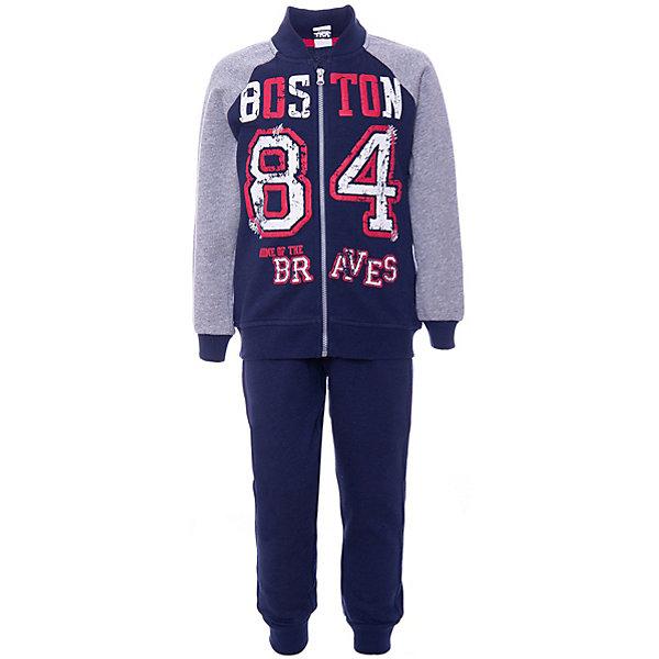 Комплект: футболка с длинным рукавом, брюки iDO для мальчикаКомплекты<br>Характеристики товара:<br><br>• цвет: голубой;<br>• комплектация: брюки, толстовка;<br>• состав ткани: 80% хлопок, 20% полиэстер;<br>• сезон: демисезон;<br>• особенности модели: спортивный стиль;<br>• длинные рукава;<br>• застежка: молния;<br>• талия: резинка;<br>• страна бренда: Италия.<br><br>Такой модный спортивный костюм для детей - это удобная толстовка и брюки. Толстовка для ребенка, как и детские брюки от iDO, сделана из мягкого хлопкового трикотажа, дышащего и гипоаллергенного. Толстовка для детей украшена эффектным декором в спортивном стиле, а также дополнена удобной молнией по всей длине изделия. Детская одежда от известного бренда iDO разрабатывается с учетом особенностей ребенка, огромное внимание уделяется её удобству и безопасности для детей.