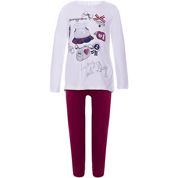 iDO Комплект:футболка с длинным рукавом,брюки iDO для девочки
