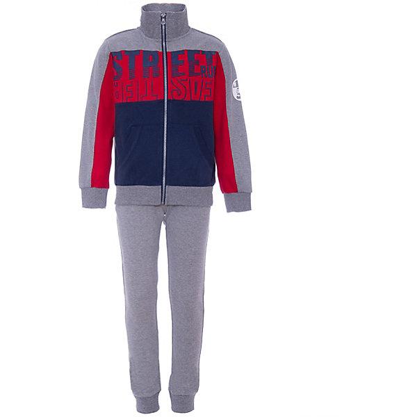 Комплект:футболка с длинным рукавом,брюки iDO для мальчикаКомплекты<br>Характеристики товара:<br><br>• состав ткани: 60% хлопок, 40% полиэстер<br>• сезон: демисезон<br>• застёжка: молния<br>• в комплекте: толстовка, брюки<br>• особенности: трикотажный, повседневный, спортивный<br>• толстовка без капюшона<br>• брюки на мягкой эластичной резинке<br>• декорирован принтом<br>• бренд: iDO<br>• страна бренда: Италия<br><br>Удобный комплект, очень комфортный и приятный на ощупь, выполнен из качественных материалов. Толстовка с высоким воротником и эластичной мягкой резинкой на манжетах и по низу изделия. Декорирована цветными вставками и надписью. Однотонные брюки дополнены эластичными манжетами, а резинка на талии совершенно не давит.