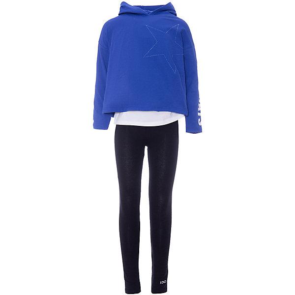 iDO Комплект:футболка с длинным рукавом,брюки iDO для девочки цены