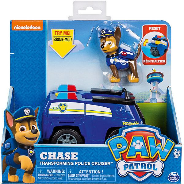 Купить Машинка спасателя и щенок Spin Master Чейз , Щенячий патруль, Китай, синий, Мужской
