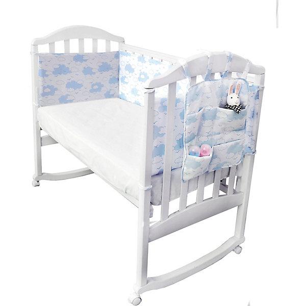 Baby Nice Борт в кроватку с органайзером Baby Nice Облака голубой споки ноки борт в кроватку с органайзером облака цвет голубой