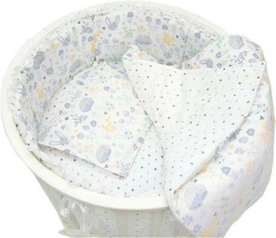 Комплект постельного белья для круглой кроватки Baby Nice  Лесная поляна  голубой, артикул:9339243 - Детский текстиль