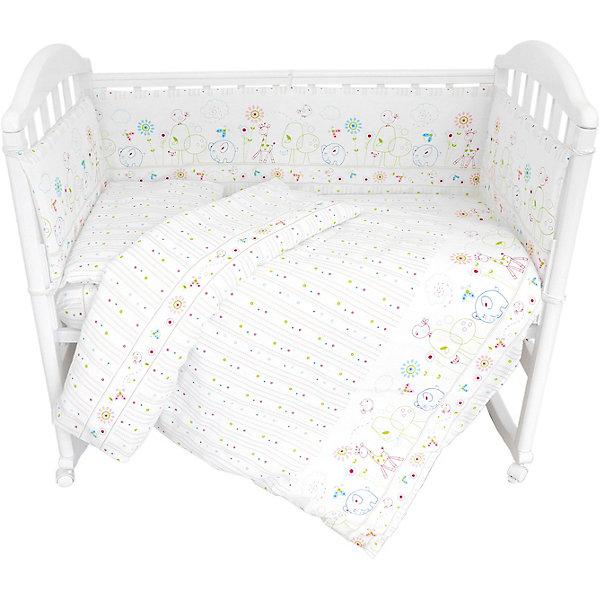 baby nice комплект в кроватку зайка 6 предметов цвет голубой Baby Nice Комплект в кроватку из 6 предметов Baby Nice Саванна