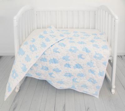 Одеяло стеганное Baby Nice  Облака  голубое, артикул:9339520 - Детский текстиль