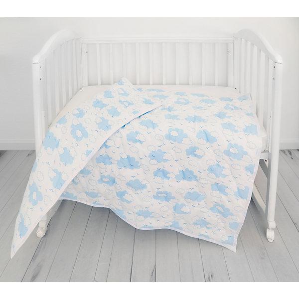 Baby Nice Одеяло стеганное Baby Nice Облака голубое baby nice подарочный набор для новорожденного baby nice облака голубой