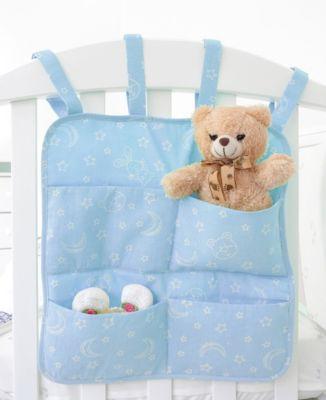 Органайзер для детской кроватки с наполнителем Baby Nice  Луны и звездочки  голубой, артикул:9339634 - Детский текстиль