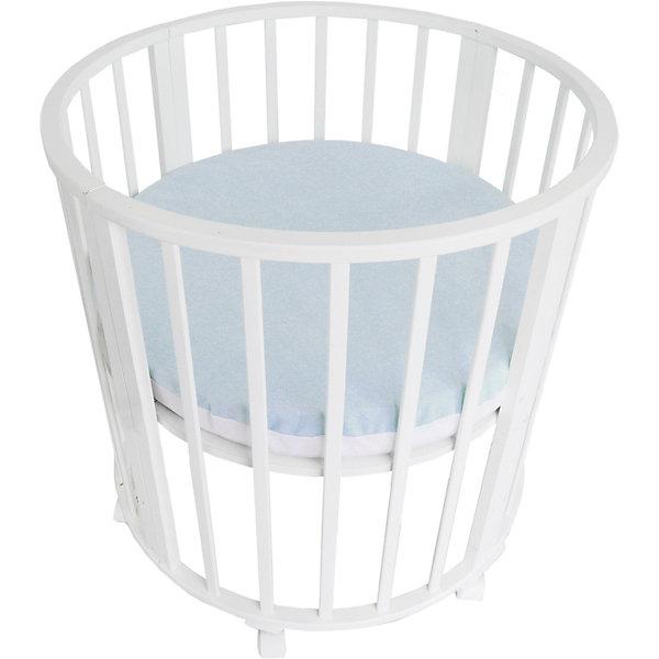 Baby Nice Наматрасник для круглой кроватки Baby Nice голубой