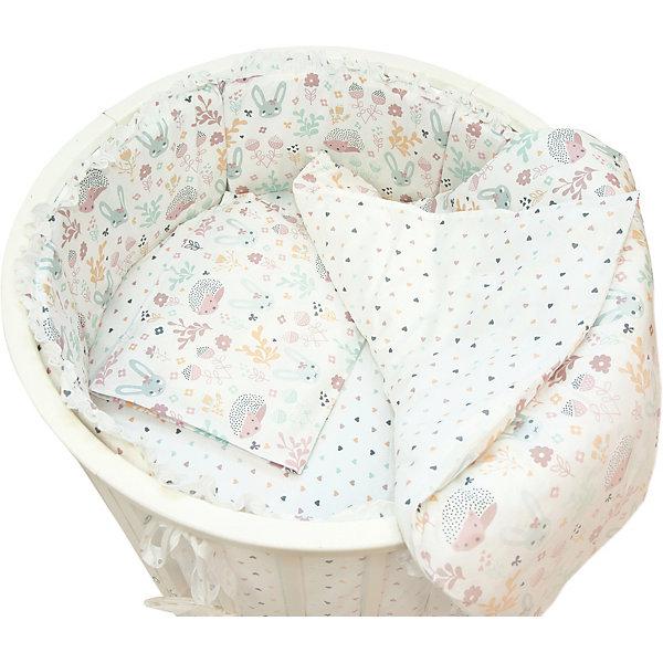 Baby Nice Комплект постельного белья для круглой кроватки Baby Nice