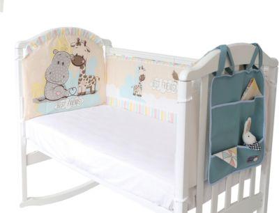 Борт в кроватку с органайзером Baby Nice  Лучшие друзья , артикул:9339793 - Детский текстиль
