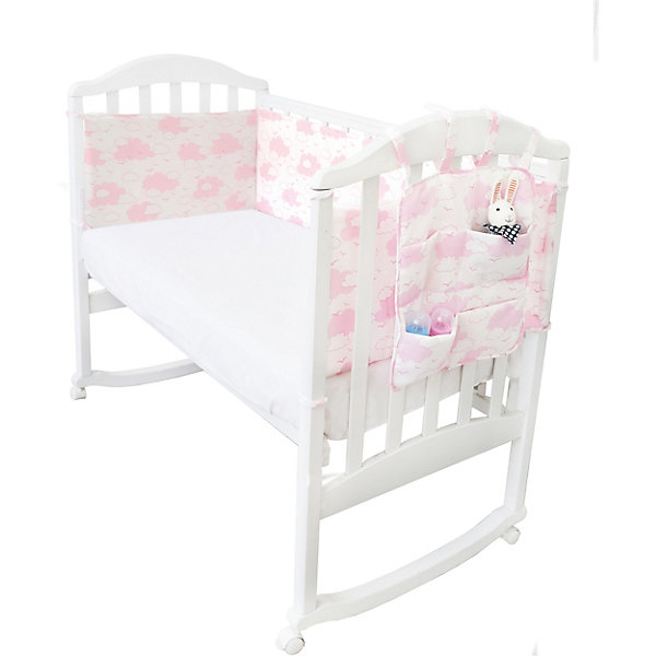 Baby Nice Борт в кроватку с органайзером Baby Nice Облака споки ноки борт в кроватку с органайзером облака цвет голубой