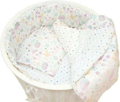 Борт для круглой Baby Nice кроватки  Лесная поляна  розовый, артикул:9339844 - Детский текстиль