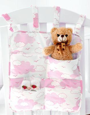 Органайзер для детской кроватки Baby Nice  Облака  розовый, артикул:9340163 - Детский текстиль