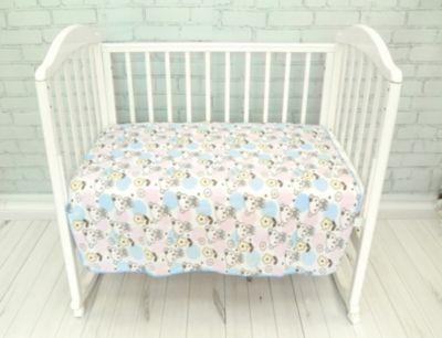 Плед флисовый Baby Nice  Мишки  голубой, артикул:9340288 - Детский текстиль