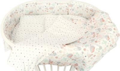 Комплект постельного белья для овальной кроватки Baby Nice  Лесная поляна  бежевый, артикул:9340305 - Детский текстиль