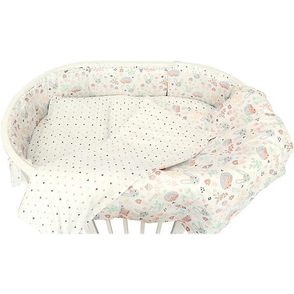 Baby Nice Комплект постельного белья для овальной кроватки Baby Nice