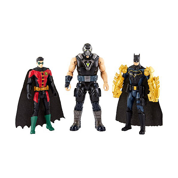 Mattel Набор фигурок DC Super Heroes Batman Бэтмен и Робин против Бэйна