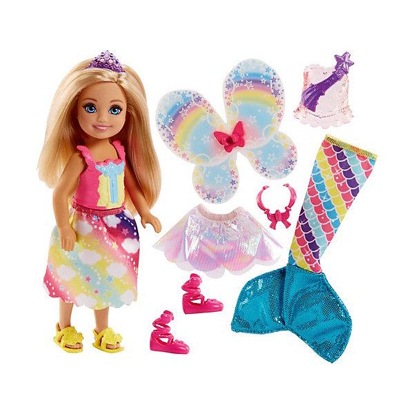 Mattel Мини-кукла Barbie Dreamtopia Радужная бухта Челси-русалка блондинка, 15 см мини кукла barbie путешественники в ассортименте