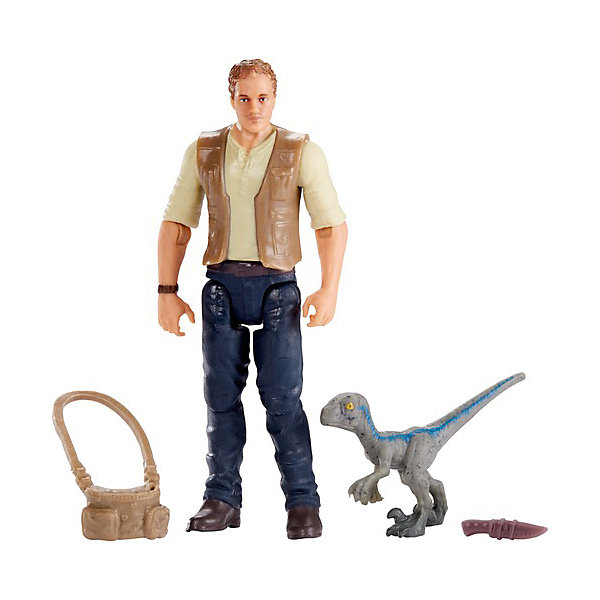 Mattel Игровой набор Jurassic World Базовые фигурки Оуэн с малышом