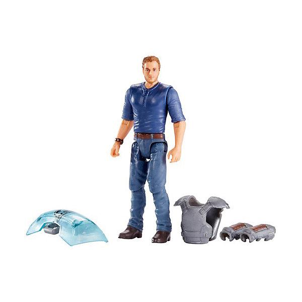 Mattel Игровой набор Jurassic World Базовые фигурки Дрессировщик Оуэн фигурка jurassic world maisie