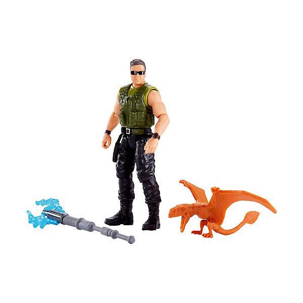 Mattel Игровой набор Jurassic World Базовые фигурки Наёмник и диморфодон