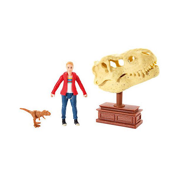 Mattel Игровой набор Jurassic World Базовые фигурки Мэйси и тиранозавр Рекс цена
