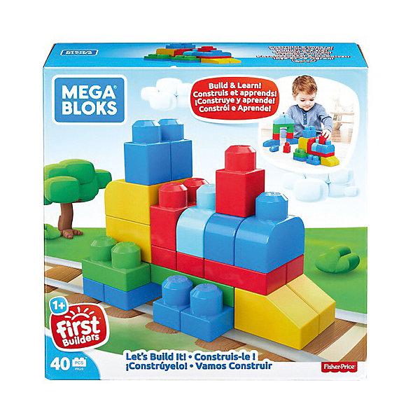 Купить Конструктор MEGA BLOKS Строим и развиваемся , 40 деталей, Mattel, Канада, Мужской