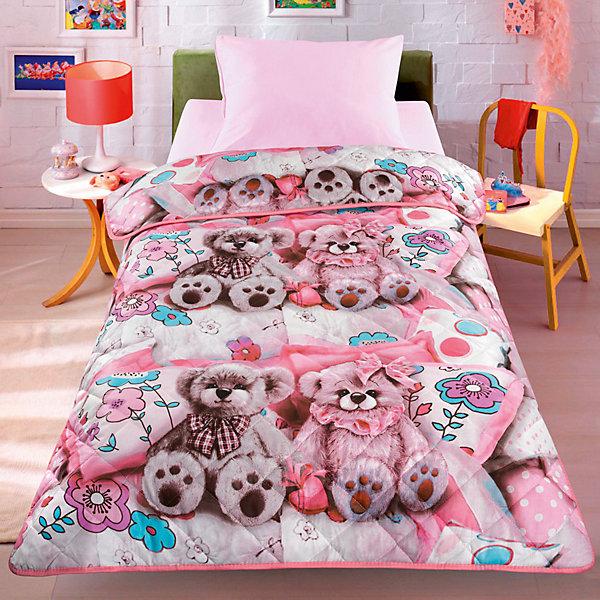 Letto Покрывало-одеяло Letto SP17, ширина 110см. Облегченное, стеганное на силиконизированном волокне (200гр/м), с двусторо letto двустороннее покрывало одеяло велокот 140 200 см