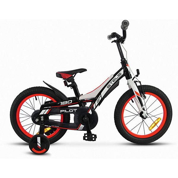 Stels Велосипед Stels Pilot-180 16 дюймов, черно-красный
