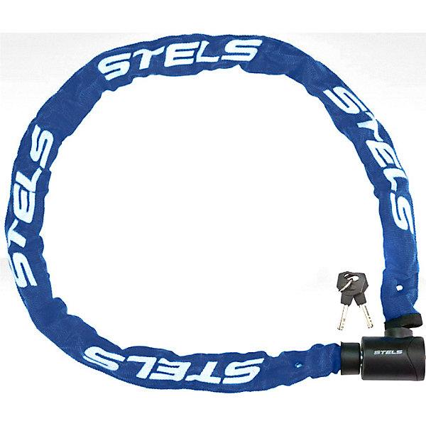 Stels Цепь-замок в тканевой оплетке Stels с ключом,